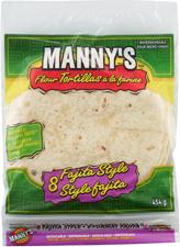 MANNY'S® Flour Tortilla Fajita Size