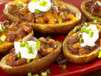 Super Loaded Chili Potato Skins